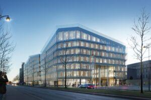 En illustration af det nye Scandic-hotel på Kalvebod Brygge. PR-foto