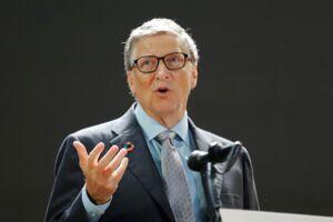 Bill Gates taler i New York.
