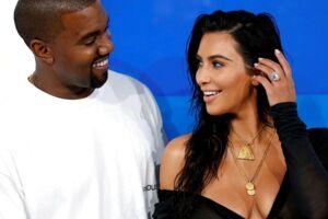 Kim Kardashian og Kanye West ved MTV Video Music Awards 2016 i New York.