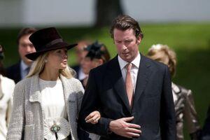 Caroline Fleming med sin eksmand Rory Fleming, mens parret endnu var gift.
