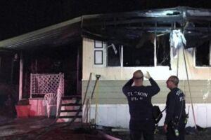 Sådan så hjemmet ud, efter brandvæsnet fik slukket ilden.