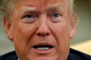 USA's præsident Donald Trump. Det Hvide Hus i Washington. Den 19. oktober.
