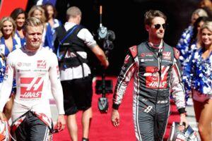 Kevin Magnussen og Romain Grosjean blev præsenteret med pomp og pragt ved weekendens Formel 1-grandprix i USA.