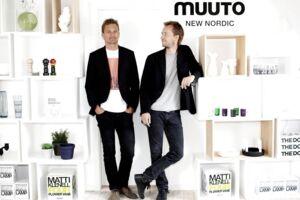 Muuto blev stiftet af Kristian Byrge og Peter Bonnén, som ses her på billedet.