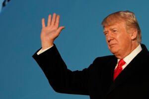 Donald Trump har lørdag været præsident for USA i et år. Tidligere statsminister Anders Fogh Rasmussen (V) mener, at Trump politisk har gjort det fornuftigt, men at præsidentens tweets kan undværes. Scanpix/Mandel Ngan/arkiv