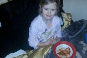 Billedet af otteårige Mylee blev taget få timer før, hun blev slået ihjel.