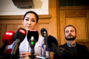 Reportagebilleder fra det indkaldte pressemøde, d. 25 oktober 2017, af Anna Mee Allerslev, hvor hun meddeler at hun trækker sig fra politik i København.