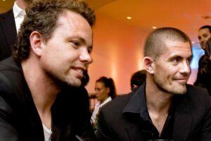 Gus Hansen og Rasmus Nørh i 2008.