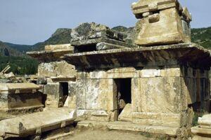 ARKIVFOTO fra Hierapolis, en antik græsk by.