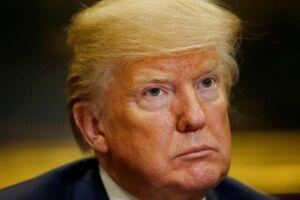 Donald Trump. Her ses han i Det Hvide Hus i Washington. Den 20. marts.