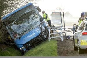 Ulykken skete omkring klokken syv fredag morgen.