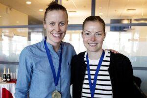 Kamilla Rytter Juhl (tv.) vandt tidligere på året All England med Christinna Pedersen.
