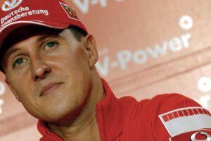 Michael Schumacher på et pressemøde i 2006.