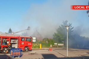 Marielyst Strandkro i brand. Foto: Local Eyes.