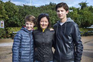 Alexandra og sønnerne Prins Nikolai og Prins Felix, arkivfoto.