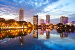 Byen Colombo i det sydvestlige Sri Lanka. Arkivfoto.
