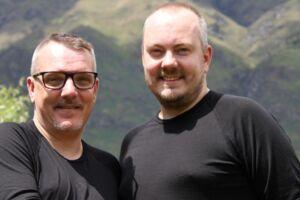 Rolf Steinlein og Martin Gadeberg medvirker i det nye TV 2-program 'BS og ægteskabsprøven.'
