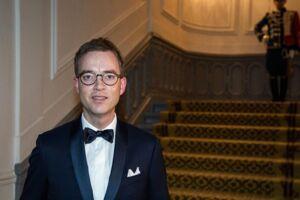 Miljø- og fødevareminister Esben Lunde Larsen (V). Her ses han ankomme til statsrådsmiddagen i Christian VII's Palæ onsdag d. 22. marts.