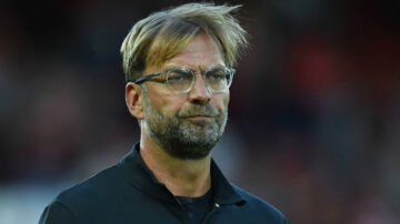 Liverpool's German manager Jurgen Klopp gestures before the Champions League qualifier, second leg match between Liverpool and Hoffenheim at Anfield stadium in Liverpool on August 23, 2017. / AFP PHOTO / Oli SCARFF