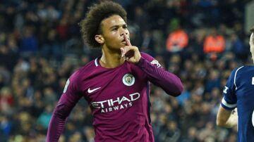 Leroy Sané sørgede for begge Manchester Citys scoringer onsdag aften og dermed også sejren.