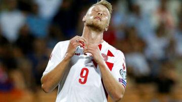 Soccer Football - 2018 World Cup Qualifications - Europe - Armenia vs Denmark - Yerevan, Armenia - September 4, 2017 Denmark's Nicolai Jorgensen reacts REUTERS/David Mdzinarishvili