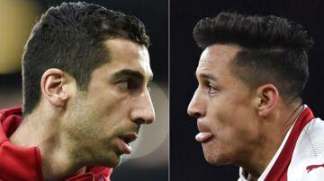 Henrikh Mkhitaryan (tv) skifter fra Manchester United til Arsenal, mens Alexis Sanchez tager den anden vej.