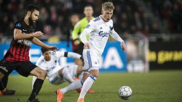 Viktor Fischer (th) kalder det en fiasko, hvis FCK går glip af top-6.