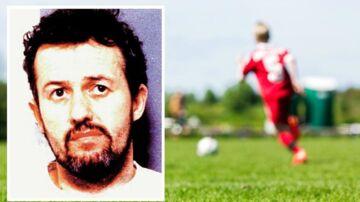 Barry Bennell, tidligere fodboldtræner og talentspejder hos Manchester City, i forbindelse med sin fængsling i 1998