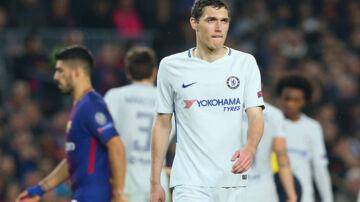 Andreas Christensen fik en uheldig rolle, da Chelsea tabte samlet til Barcelona. Reuters/Albert Gea