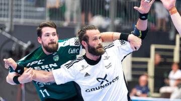 Jesper Nøddesbo BSV i den 1. DM-finale i herrehåndbold mellem Skjern Håndbold og Bjerringbro-Silkeborg i Skjern Bank Arena, søndag den 20. maj 2018. (Foto: JOHN RANDERIS/Scanpix 2018)