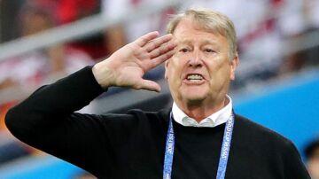 Det holdt hårdt for Åge Hareide og det danske landshold, der formåede at hive en 1-0 sejr i land mod Peru.