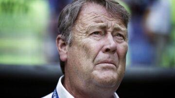 Landstræner Åge Hareide under kampen mellem Danmark-Australien på Samara Arena i Rusland torsdag.