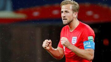 Harry Kane under kampen mellem England og Tunesien.