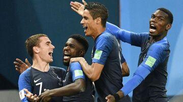 De franske spillere kunne juble både efter Umtitis mål til 1-0 og ved slutfløjt.