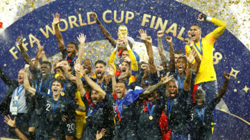 Soccer Football - World Cup - Final - France v Croatia - Luzhniki Stadium, Moscow, Russia - July 15, 2018 FranceÕs Hugo Lloris lifts the trophy as they celebrate after winning the World Cup REUTERS/Kai Pfaffenbach