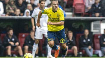 Josip Radosevic under kampen mellem FCK og Brøndby søndag.