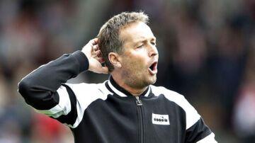 FC Nordsjællands træner, Kasper Hjulmand, er vred. (Foto: Henning Bagger/Ritzau Scanpix)