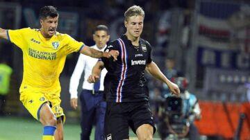 Spurs skulle angiveligt holde øje med danske Joachim Andersen (th.), der i øjeblikket tørner ud for italienske Sampdoria