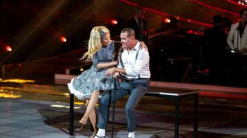 Vild med Dans sæson 15, program 7, fredag den 19. oktober 2018. Rolf Sørensen og Karina Frimodt (foto: Martin Sylvest/Scanpix Ritzau Scanpix 2018)