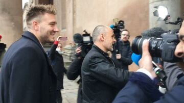 Nicklas Bendtner inden retssagen i starten af november.