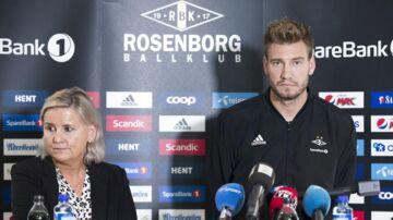 Nicklas Bendtner sammen med Tove Moe Dyrhaug.