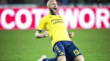 Johan Larsson spiller sin sidste kamp for Brøndby mod Vendsyssel.