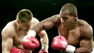 Mike Tyson og Andrew Golota i 2000.