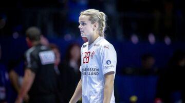 Danmarks Stine Jørgensen efter EM-kampen mellem Frankrig og Danmark i Nantes torsdag den 6. december 2018.