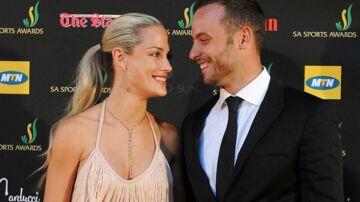 Oscar Pistorius og Reeva Steenkamp, der blev skuddræbt i februar 2013.