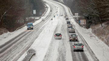 snefygning i det jyske mandag den 27. januar