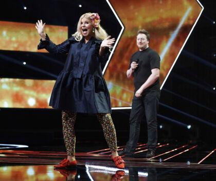 Sofie Linde er tilbage som vært på X Factor liveshowene efter endt barsel i København fredag den 9. marts 2018. . (Foto: Martin Sylvest/Scanpix 2018)