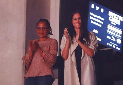 Meghan Markle og hendes mor, Doria Ragland, er meget tætte. Her ses de sammen til invictus game i September 2017.