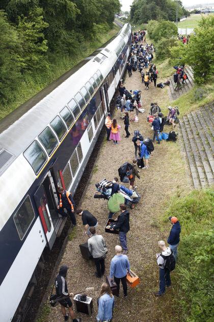 Trinbrættet ved Roskilde Festival er i år blevet opgraderet til en station.
