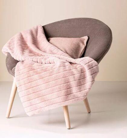 Furry plaid i rosa